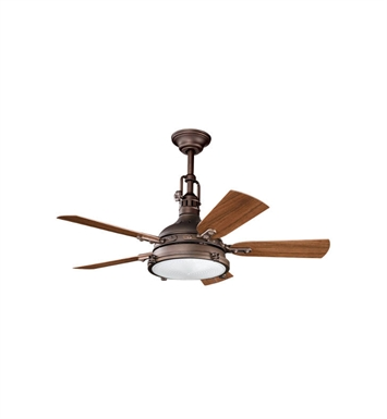 "Kichler 310101WCP Hatteras Bay Patio 44"" Outdoor Ceiling Fan with 5 Blades, Cool-Touch Remote and Downrod"