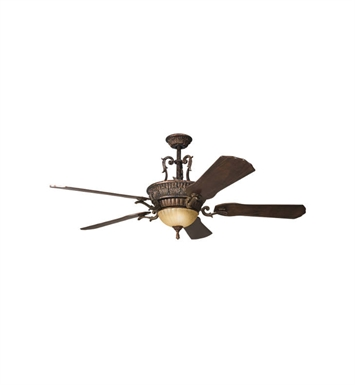 "Kichler 300008BKZ Kimberley 56"" Indoor Ceiling Fan with 5 Blades, Cool-Touch Remote and Downrod"