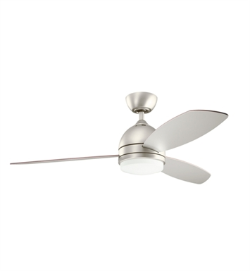 "Kichler 300175NI Vassar 52"" Indoor Ceiling Fan with 3 Blades and Downrod"
