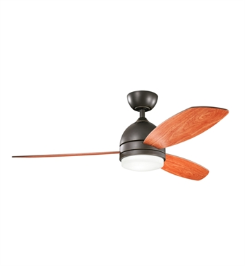 "Kichler 300175OZ Vassar 52"" Indoor Ceiling Fan with 3 Blades, Cool-Touch Remote and Downrod"