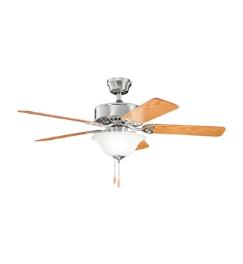 "Kichler 330110BSS Renew Select 50"" Indoor Ceiling Fan with 5 Blades and Downrod"