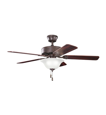 "Kichler 330110TZ Renew Select 50"" Indoor Ceiling Fan with 5 Blades and Downrod"