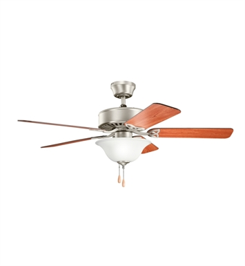 "Kichler 330110NI Renew Select 50"" Indoor Ceiling Fan with 5 Blades and Downrod"
