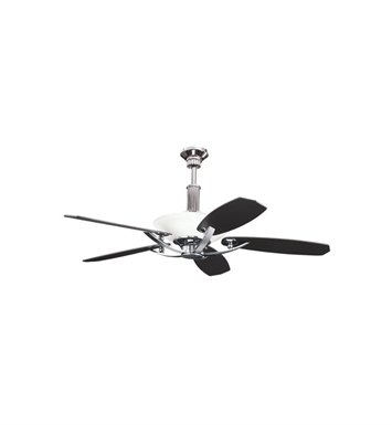 "Kichler 300126MCH Palla 56"" Indoor Ceiling Fan with 5 Blades, Cool-Touch Remote and Downrod"