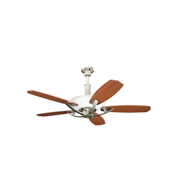 "Kichler 300126PN Palla 56"" Indoor Ceiling Fan with 5 Blades, Cool-Touch Remote and Downrod"