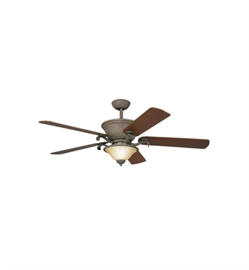 "Kichler 300010OI High Country 56"" Indoor Ceiling Fan with 5 Blades, Cool-Touch Remote and Downrod"