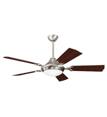 "Kichler 300019AP Bellamy 54"" Indoor Ceiling Fan with 5 Blades, Cool-Touch Remote and Downrod"