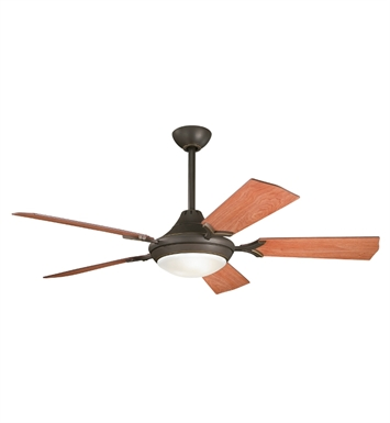 "Kichler 300019OZ Bellamy 54"" Indoor Ceiling Fan with 5 Blades, Cool-Touch Remote and Downrod"
