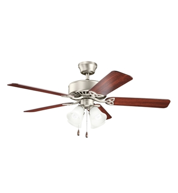 "Kichler 339240NI Renew Premier 50"" Indoor Ceiling Fan with 5 Blades and Downrod"