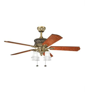 "Kichler 300161BAB Corinth 5 Blades 52"" Indoor Ceiling Fan in Burnished Antique Brass"