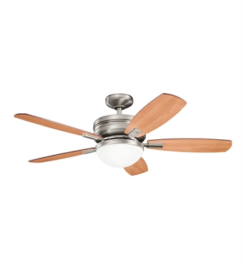 "Kichler 300138AP Carlson 52"" Indoor Ceiling Fan with 5 Blades, Cool-Touch Remote and Downrod"