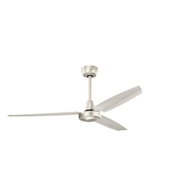 "Kichler 337015NI Industrial 56"" Indoor Ceiling Fan with 3 Blades and Downrod"