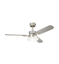 "Kichler 300009NI Structures 52"" Indoor Ceiling Fan with 3 Blades, Cool-Touch Remote and Downrod"