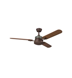 "Kichler 300009OZ Structures 52"" Indoor Ceiling Fan with 3 Blades, Cool-Touch Remote and Downrod"