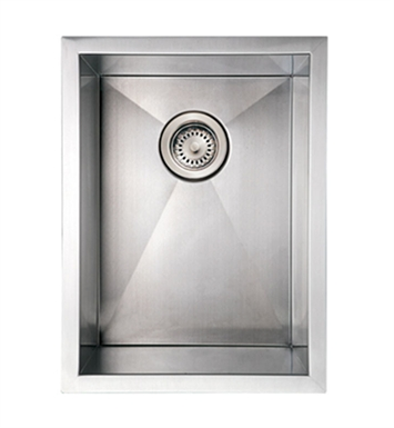 Whitehaus WHNCM1520 Noah's Collection Brushed Stainless Steel Commercial Single Bowl Undermount Sink