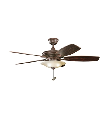 "Kichler 300179TZ Rokr 52"" Indoor Ceiling Fan with 5 Blades and Downrod"
