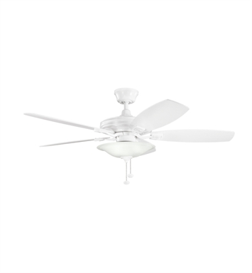 "Kichler 300179WH Rokr 52"" Indoor Ceiling Fan with 5 Blades and Downrod"