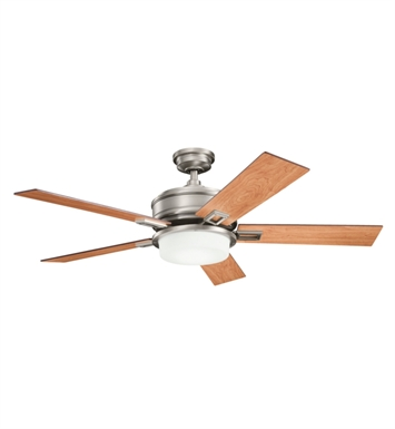 "Kichler 300140AP Talbot 52"" Indoor Ceiling Fan with 5 Blades, Cool-Touch Remote and Downrod"