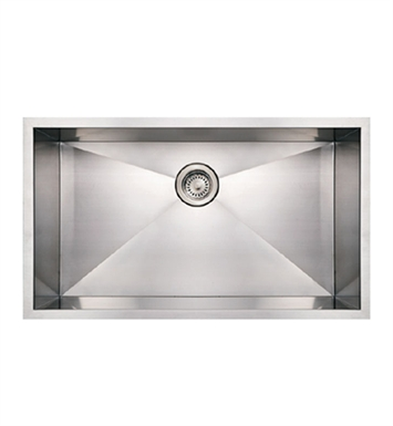 Whitehaus WHNCM3219 Noah's Collection Brushed Stainless Steel Commercial Single Bowl Undermount Sink