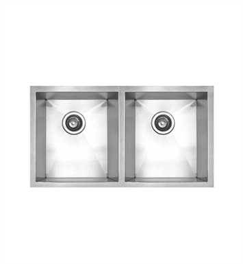 Whitehaus WHNC2917 Noah's Collection Brushed Stainless Steel Chefhaus Series Double Bowl Undermount Sink