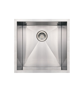 Whitehaus WHNCM1920 Noah's Collection Brushed Stainless Steel Commercial Single Bowl Undermount Sink