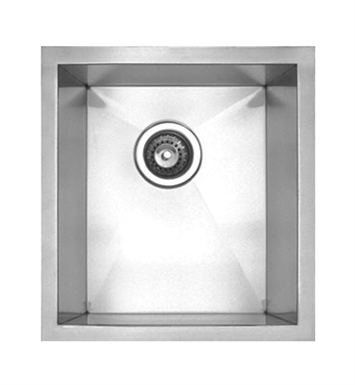 Whitehaus WHNC1517 Noah's Collection Brushed Stainless Steel Chefhaus Series Single Bowl Undermount Sink