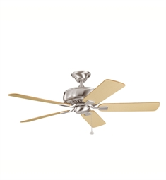 "Kichler 339012BSS Saxon 52"" Indoor Ceiling Fan with 5 Blades and Downrod"