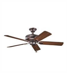 "Kichler 339012OBB Saxon 52"" Indoor Ceiling Fan with 5 Blades and Downrod"