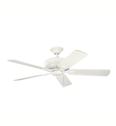 "Kichler 339012SNW Saxon 52"" Indoor Ceiling Fan with 5 Blades and Downrod"