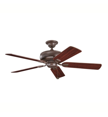 "Kichler 339012TZ Saxon 52"" Indoor Ceiling Fan with 5 Blades and Downrod"