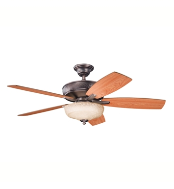 "Kichler 339213OBB Monarch 52"" Indoor Ceiling Fan with 5 Blades, Cool-Touch Remote and Downrod"