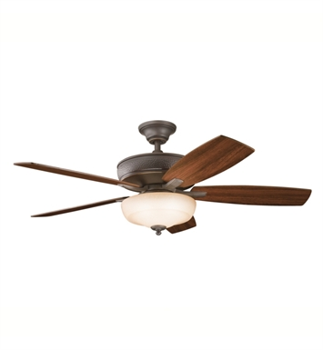 "Kichler 339213OZ Monarch 52"" Indoor Ceiling Fan with 5 Blades, Cool-Touch Remote and Downrod"