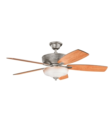 "Kichler 339213BAP Monarch 52"" Indoor Ceiling Fan with 5 Blades, Cool-Touch Remote and Downrod"