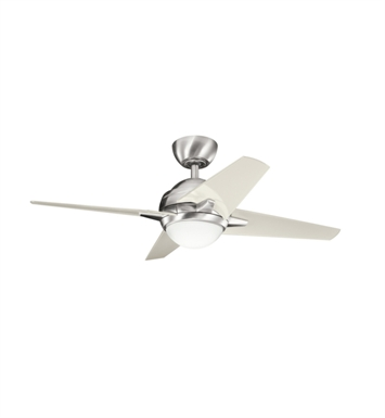 "Kichler 300147BSS Rivetta 42"" Indoor Ceiling Fan with 4 Blades, Cool-Touch Remote and Downrod"