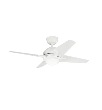 "Kichler 300147WH Rivetta 42"" Indoor Ceiling Fan with 4 Blades, Cool-Touch Remote and Downrod"