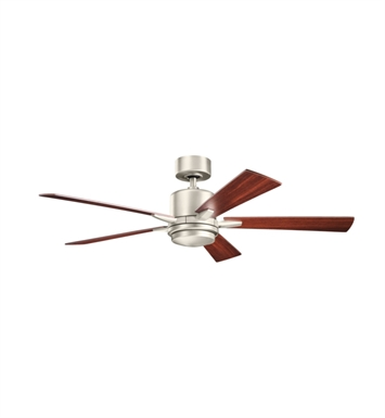 "Kichler 300176NI Lucian 52"" Indoor Ceiling Fan with 5 Blades, Standard Remote Control and Downrod"