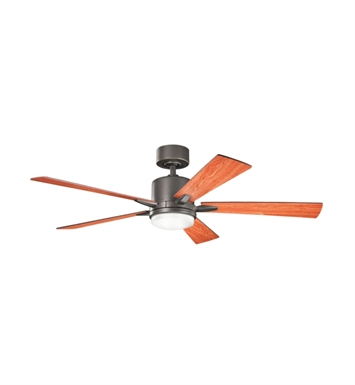 "Kichler 300176OZ Lucian 52"" Indoor Ceiling Fan with 5 Blades, Standard Remote Control and Downrod"