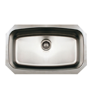 Whitehaus WHNCUS2917 Noah's Collection Brushed Stainless Steel Single Bowl Undermount Sink