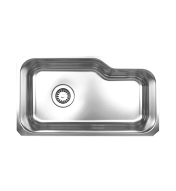 Whitehaus WHNUB3016 Noah's Collection Brushed Stainless Steel Single Bowl Undermount Sink
