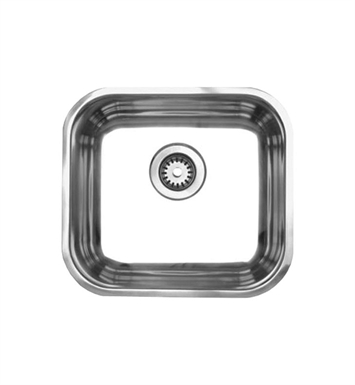 Whitehaus WHNU1614 Noah's Collection Brushed Stainless Steel Single Bowl Undermount Sink