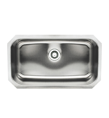 Whitehaus WHNU2918REC Noah's Collection Brushed Stainless Steel Single Bowl Undermount Sink