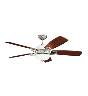 "Kichler 300262AP Brinbourne 54"" Indoor Ceiling Fan with 5 Blades, Cool-Touch Remote and Downrod"