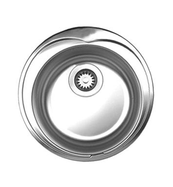 Whitehaus WHNDA16 Noah's Collection Brushed Stainless Steel Large Round Drop-in Sink