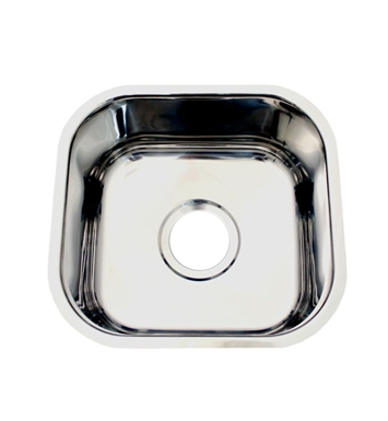 Whitehaus WHNU1212 Noah's Collection Brushed Stainless Steel Single Bowl Undermount Sink