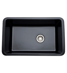 Rohl 6307-63 Allia Undermount Fireclay Kitchen Sink in Matte Black