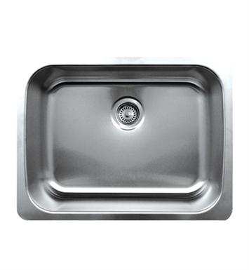 Whitehaus WHNU2519 Noah's Collection Brushed Stainless Steel Single Bowl Undermount Sink