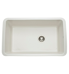 Rohl 6307-68 Allia Undermount Fireclay Kitchen Sink in Biscuit
