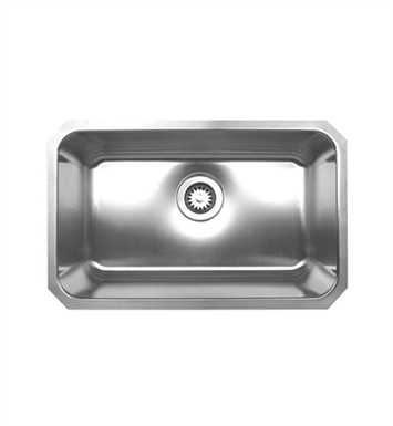 Whitehaus WHNU2816 Noah's Collection Brushed Stainless Steel Single Bowl Undermount Sink