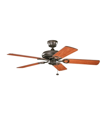 "Kichler 339011OZ Sutter Place 52"" Indoor Ceiling Fan with 5 Blades and Downrod"