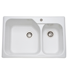 Rohl 6317-00 Allia Fireclay Kitchen Sink in White